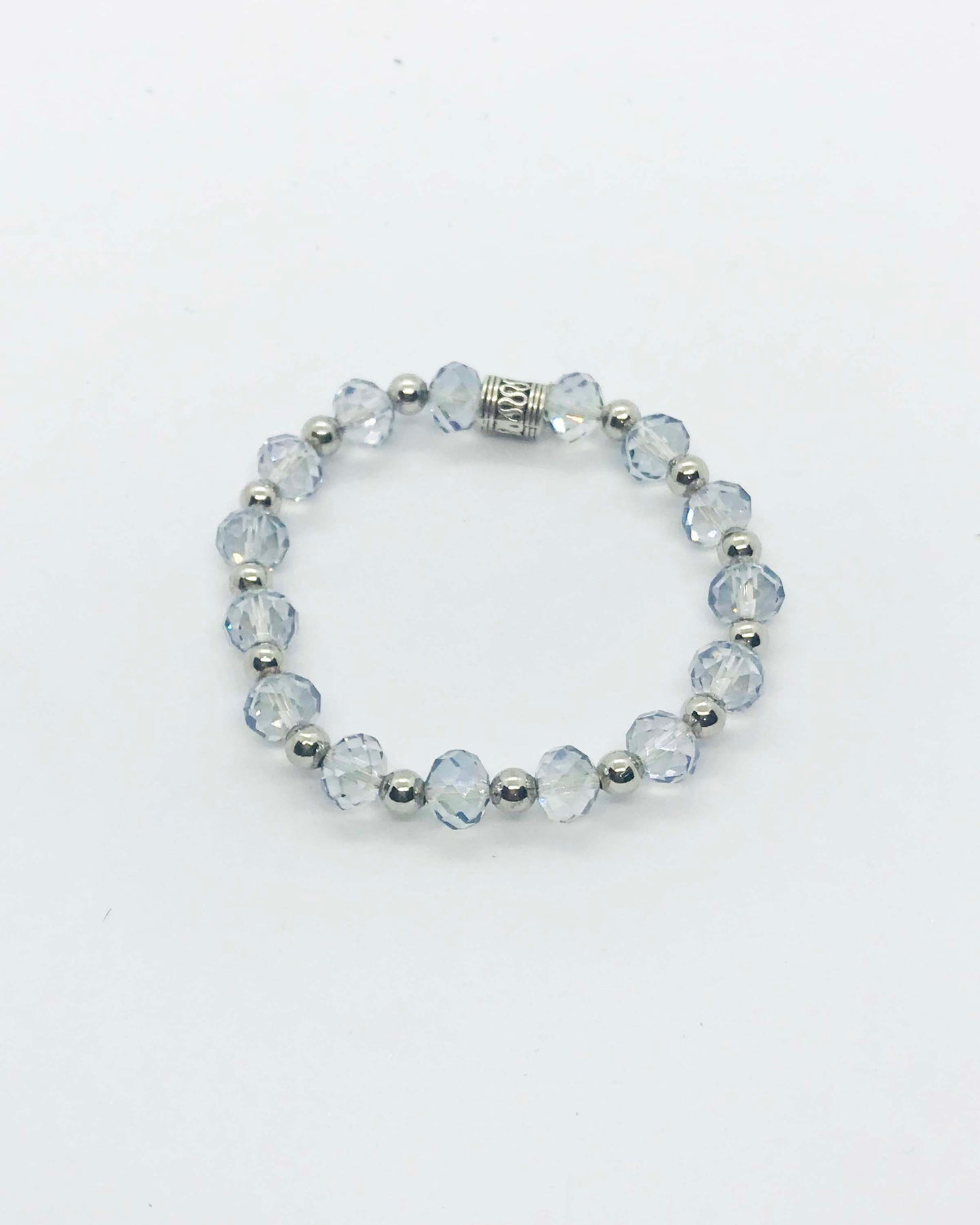 Glass Bead Stretchy Bracelet - B464
