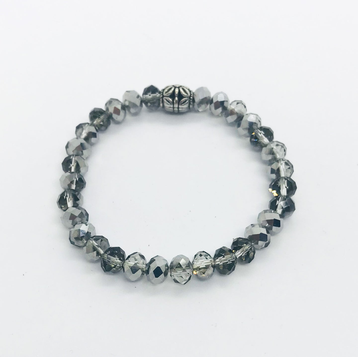 Glass Bead Stretchy Bracelet - B471