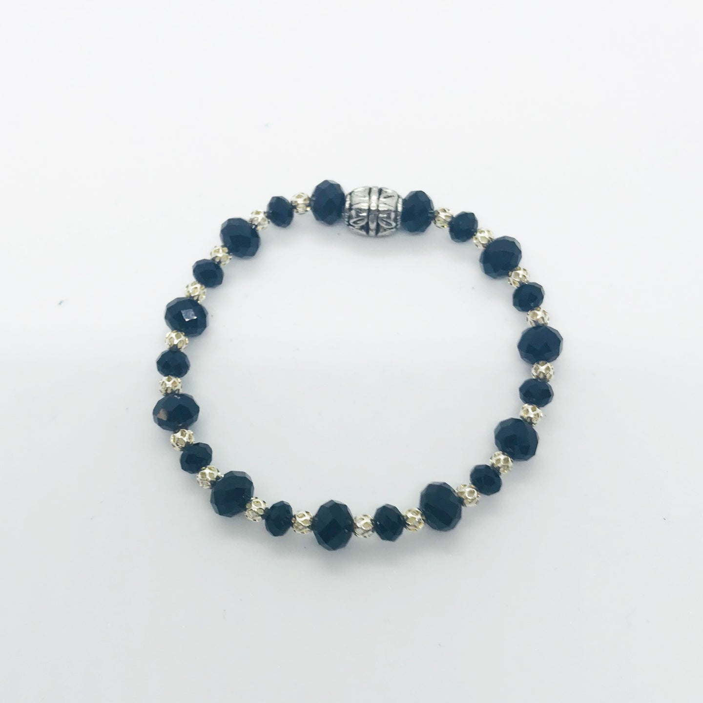 Glass Bead Stretchy Bracelet - B475