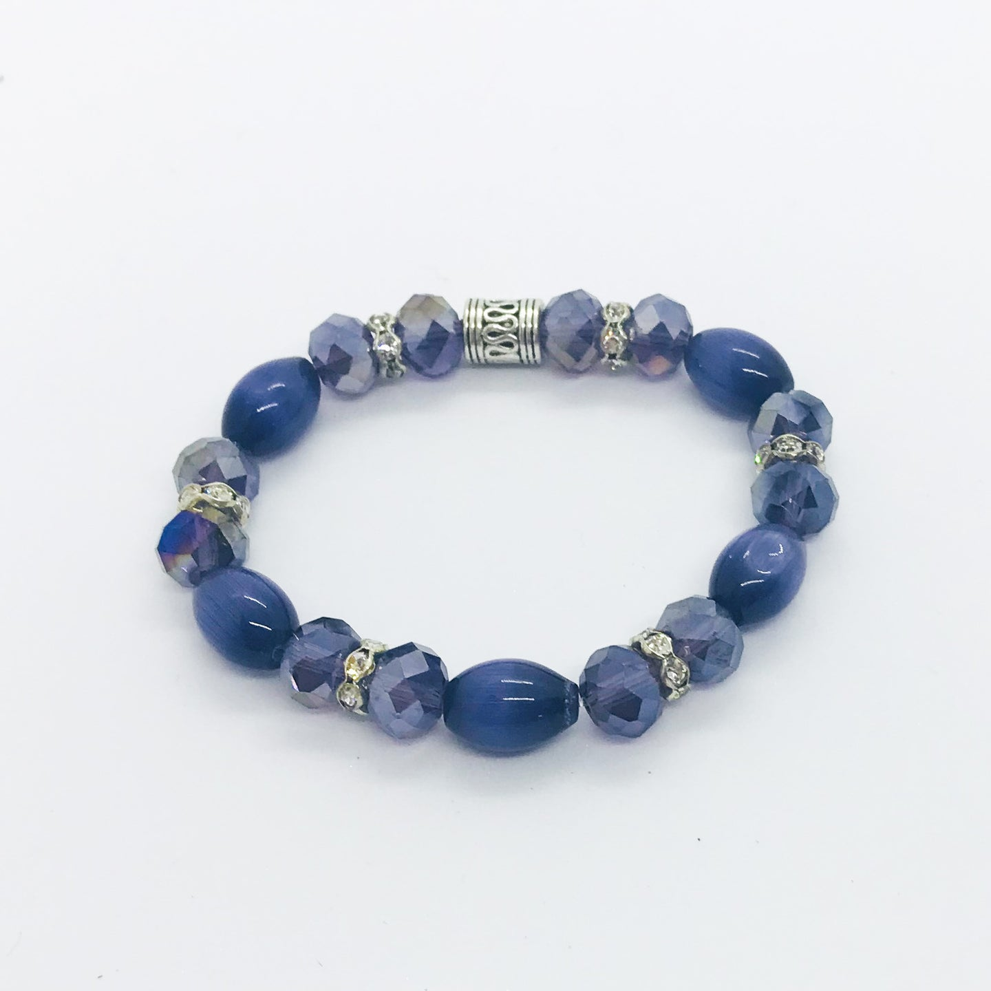 Glass Bead Stretchy Bracelet - B476