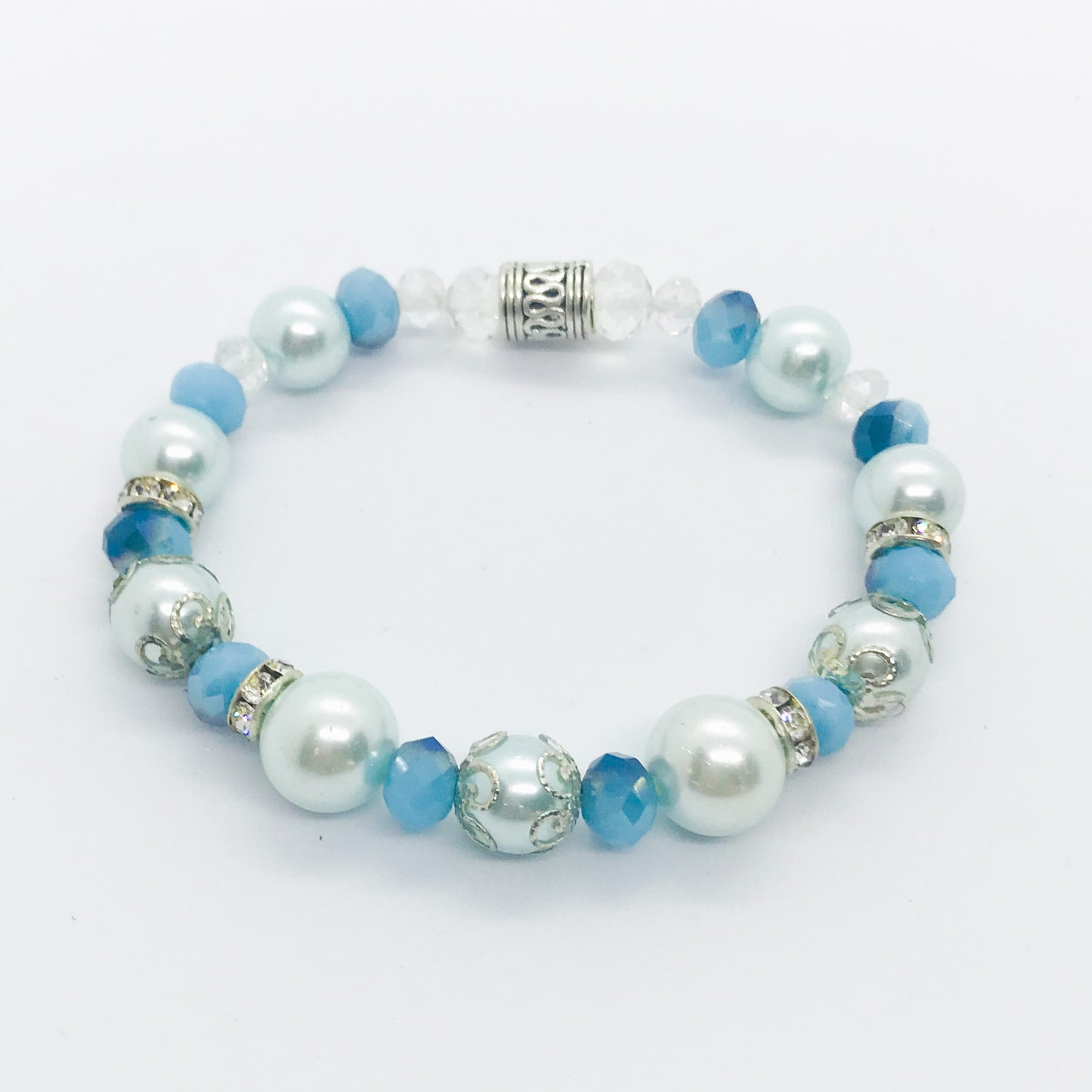 Glass Bead Stretchy Bracelet - B477