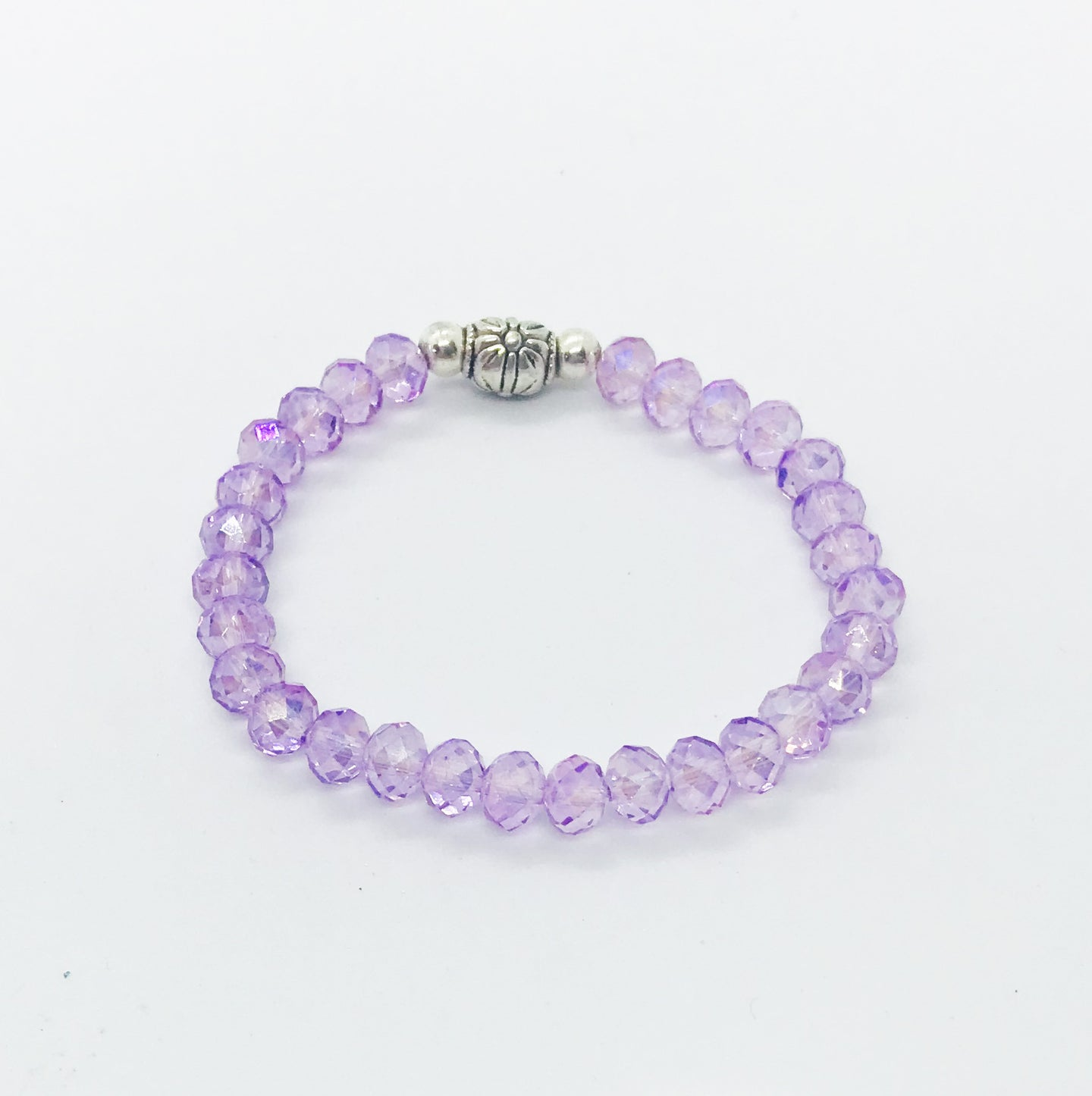 Glass Bead Stretchy Bracelet - B480