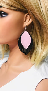 Genuine Leather and Lambskin Earrings - E19-481