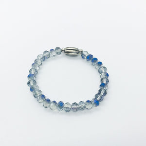 Glass Bead Stretchy Bracelet - B489