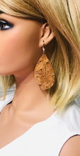 Load image into Gallery viewer, Genuine Ostrich Leather Earrings - E19-532