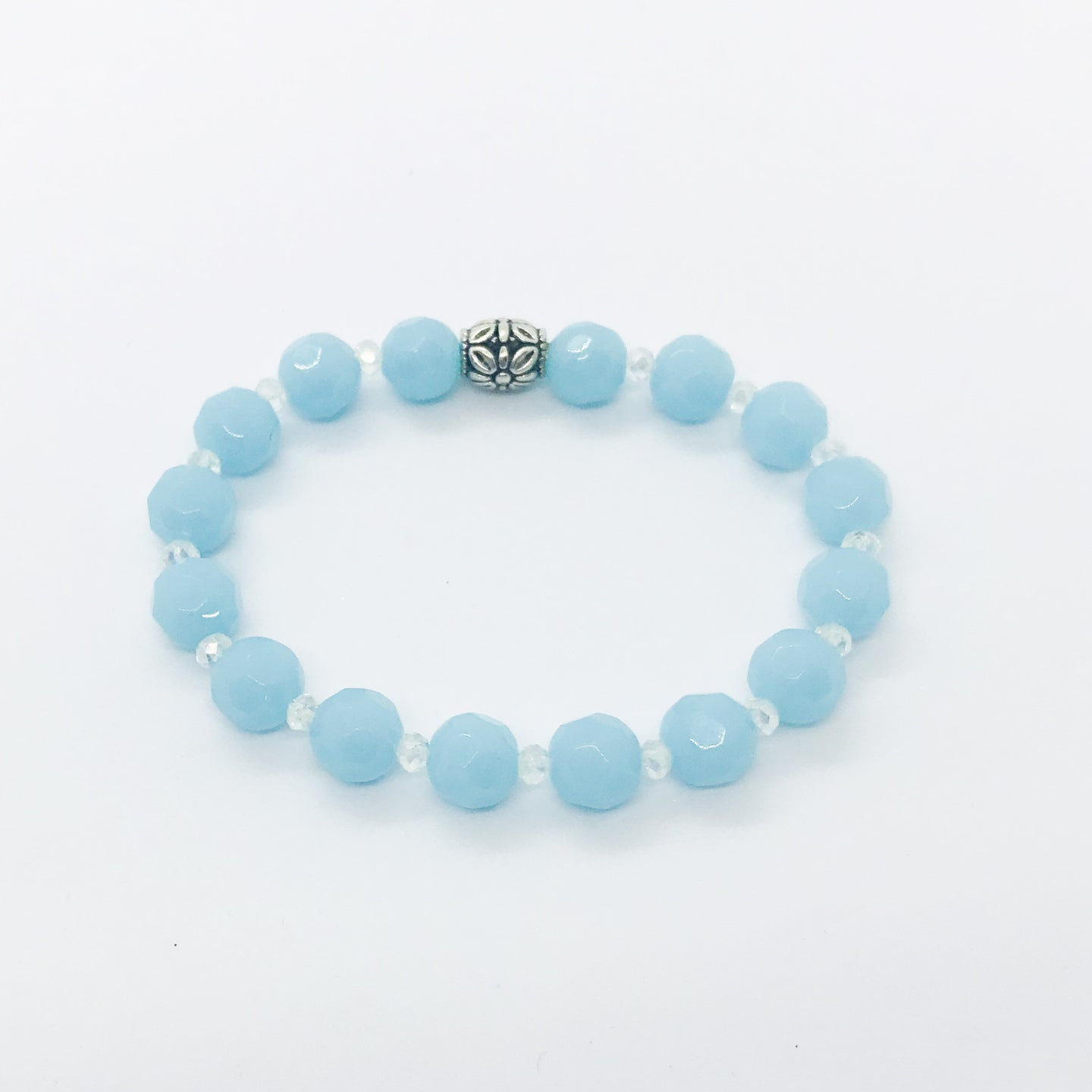 Glass Bead Stretchy Bracelet - B539