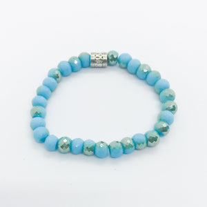 Glass Bead Stretchy Bracelet - B540