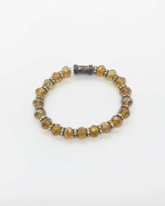 Glass Bead Stretchy Bracelet - B544
