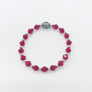 Glass Bead Stretchy Bracelet - B550