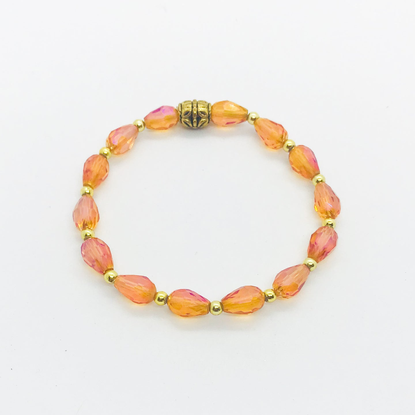 Glass Bead Stretchy Bracelet - B553