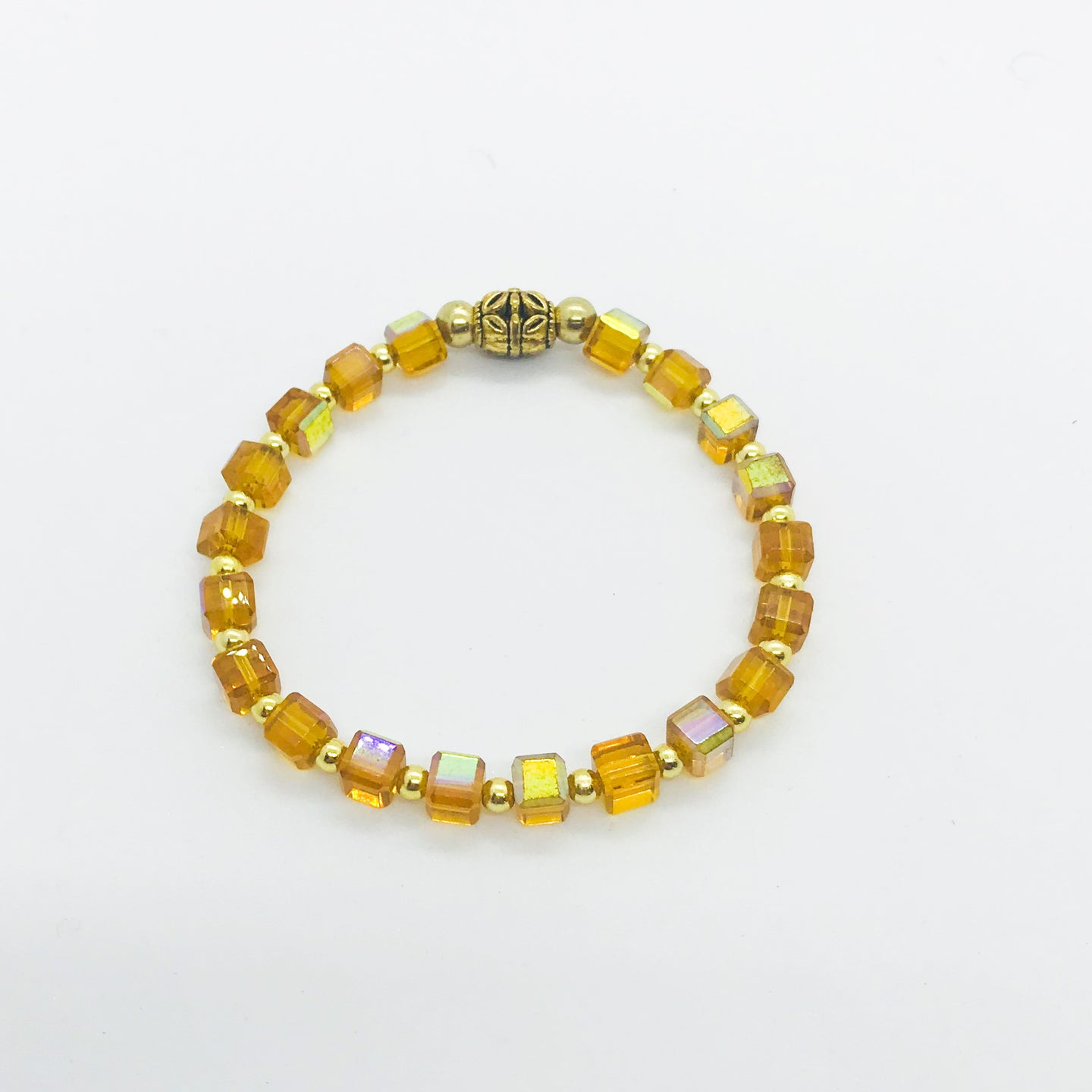 Glass Bead Stretchy Bracelet - B561