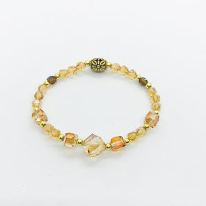 Glass Bead Stretchy Bracelet - B562