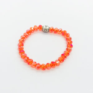 Glass Bead Stretchy Bracelet - B571
