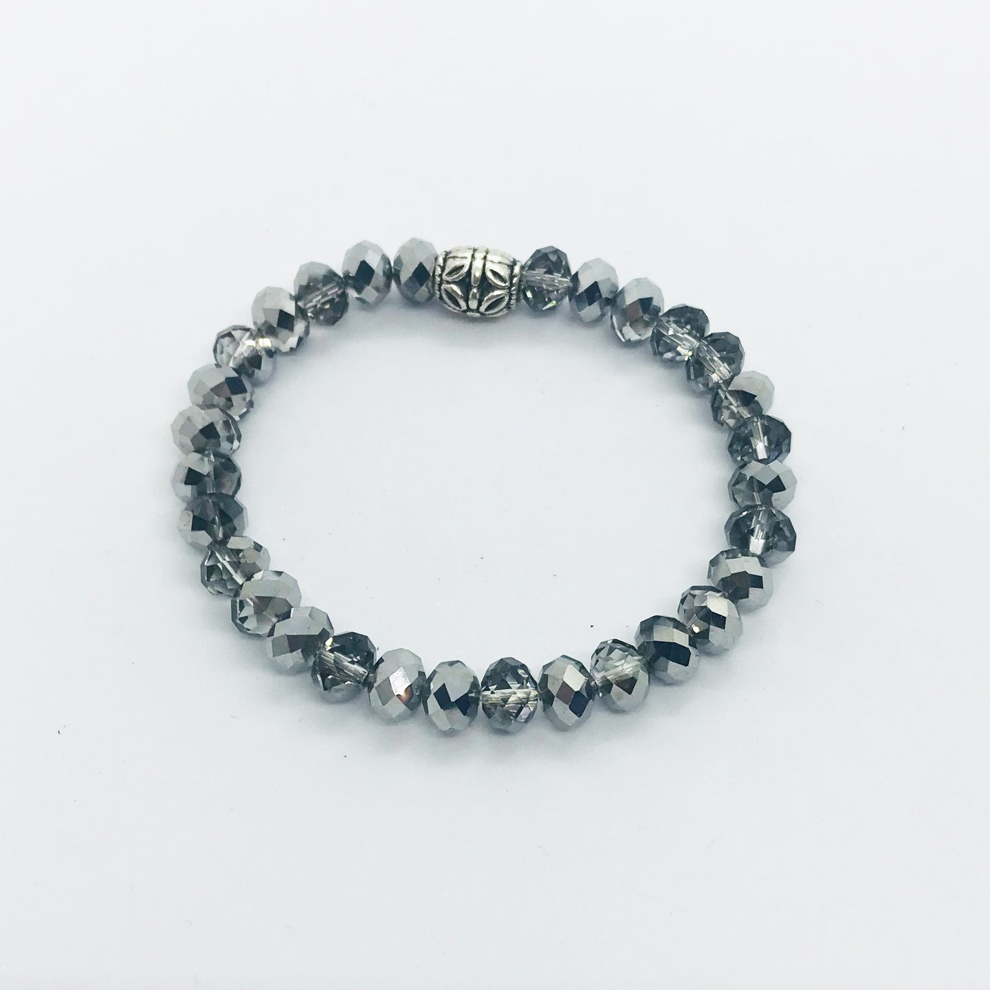 Glass Bead Stretchy Bracelet - B573