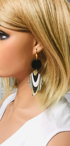 Waved and Chunky Glitter Earrings - E19-574