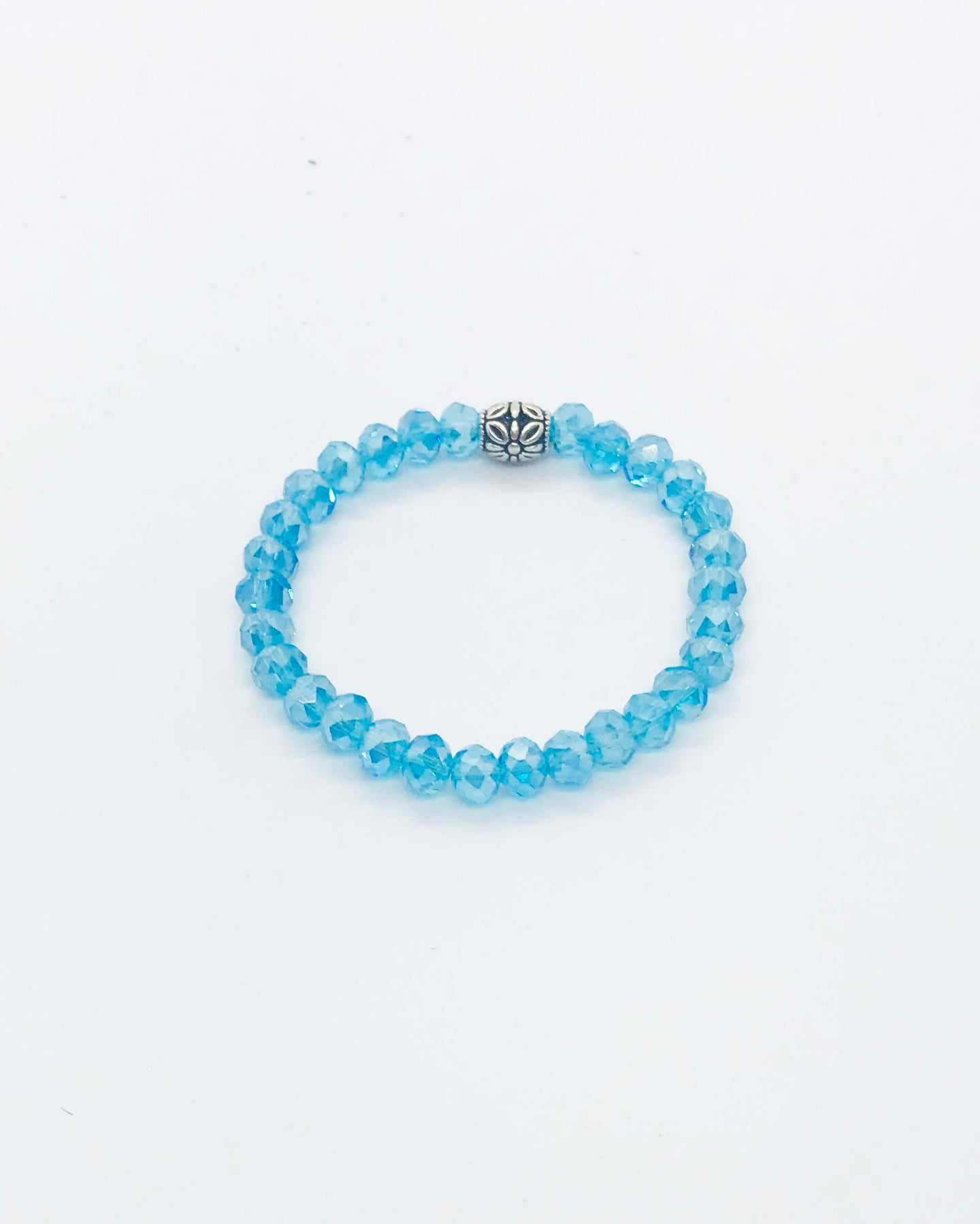Glass Bead Stretchy Bracelet - B575
