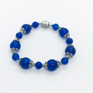 Glass Bead Stretchy Bracelet - B590