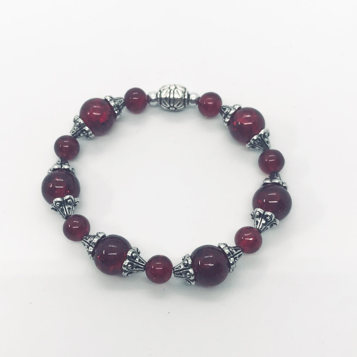 Glass Bead Stretchy Bracelet - B592