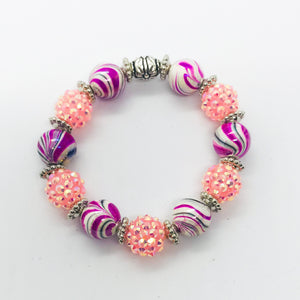 Glass Bead Bracelet - B602