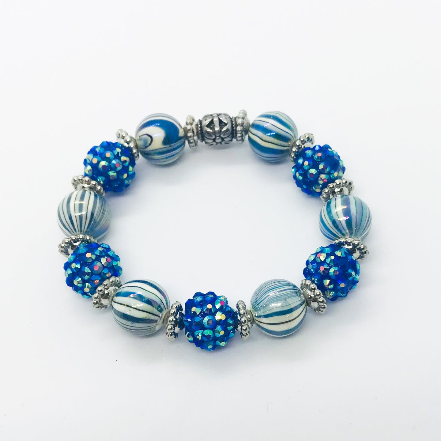 Glass Bead Bracelet - B603