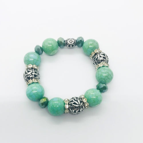 Big & Bold Collection Glass Bead Bracelet - B604