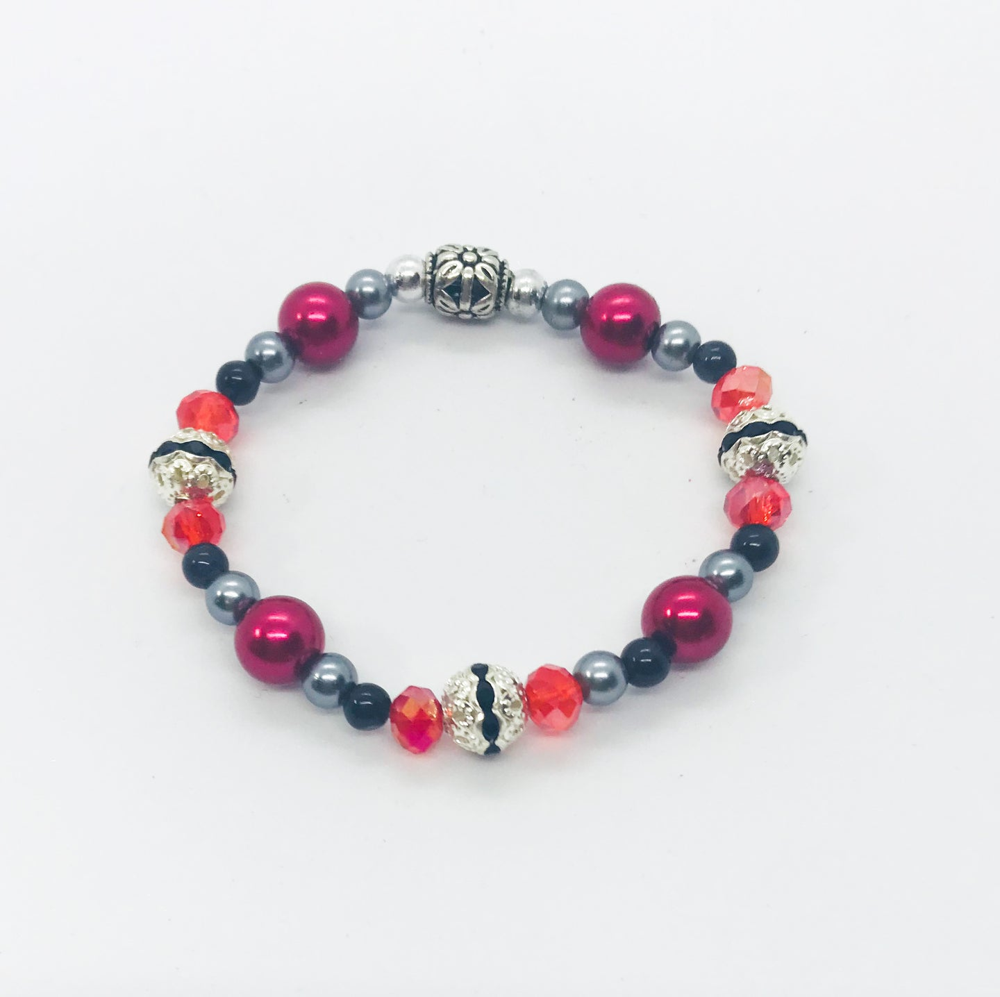 Glass Bead Stretchy Bracelet - B610