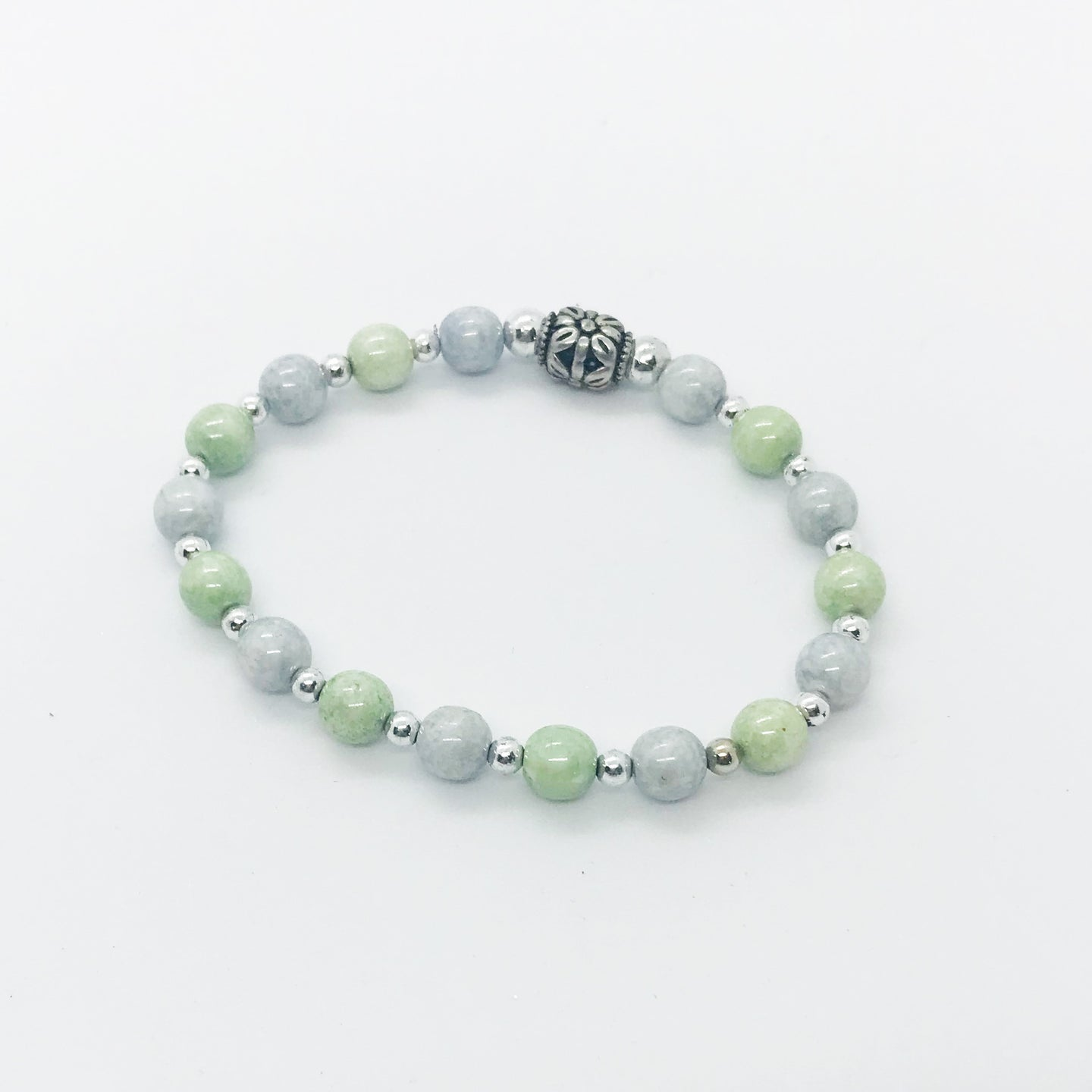 Glass Bead Stretchy Bracelet - B613