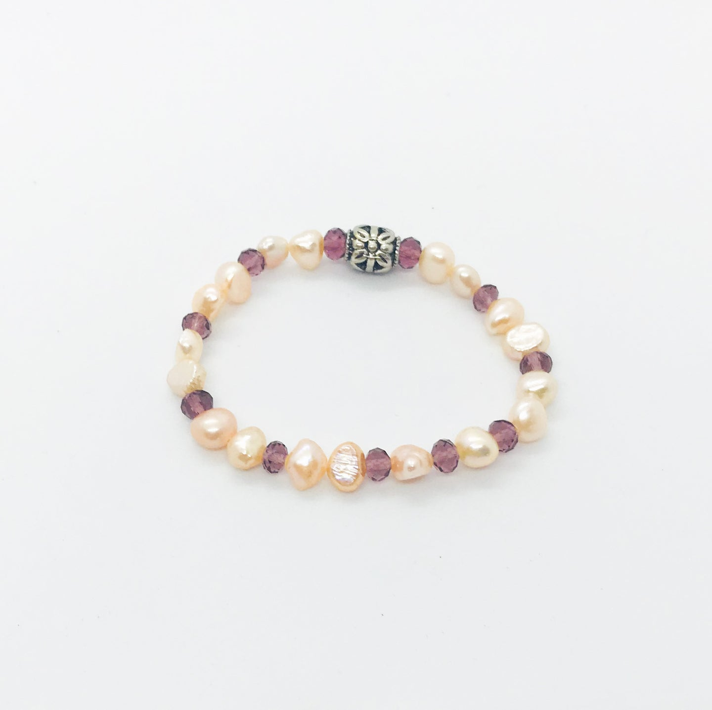 Glass Bead Stretchy Bracelet - B615