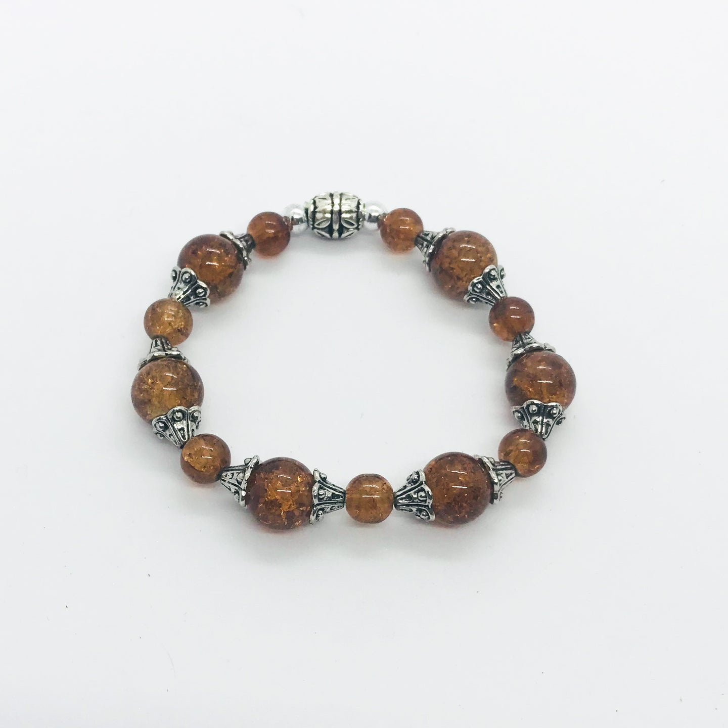 Glass Bead Stretchy Bracelet - B616