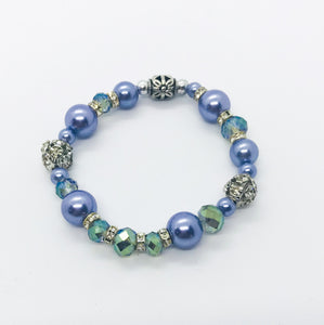 Glass Bead Stretchy Bracelet - B620