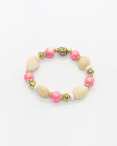 Glass Bead Stretchy Bracelet - B624