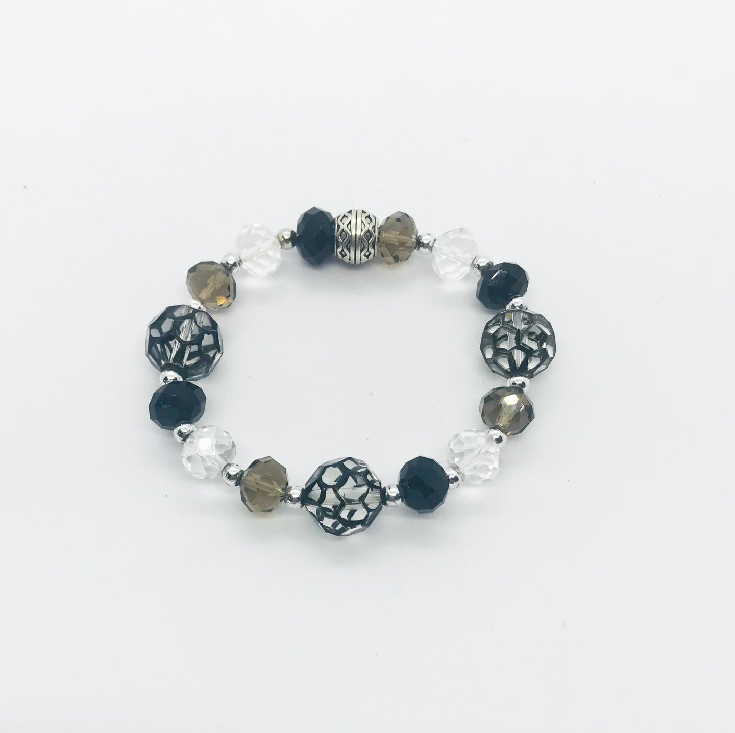 Glass Bead Stretchy Bracelet - B626