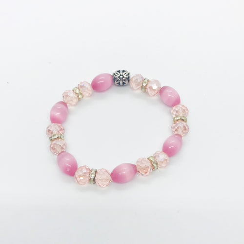 Glass Bead Stretchy Bracelet - B628
