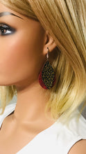 Load image into Gallery viewer, Genuine Layered Leather Earrings - E19-628