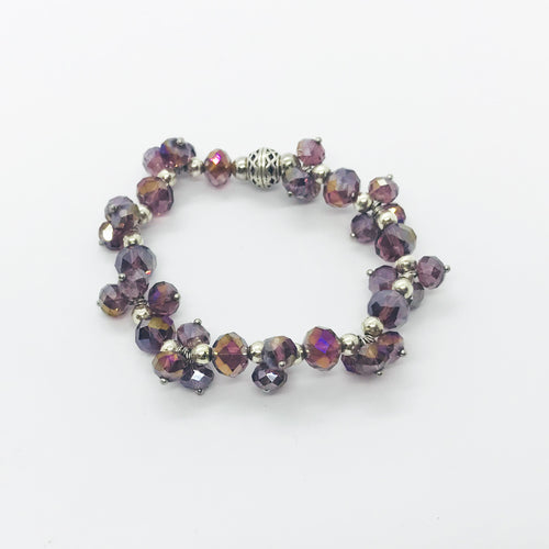 Glass Bead Stretchy Bracelet - B633
