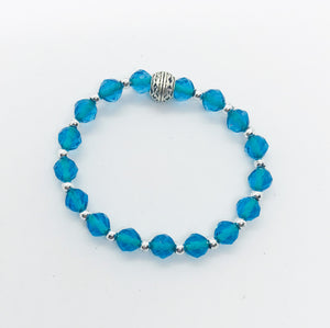 Glass Bead Stretchy Bracelet - B635
