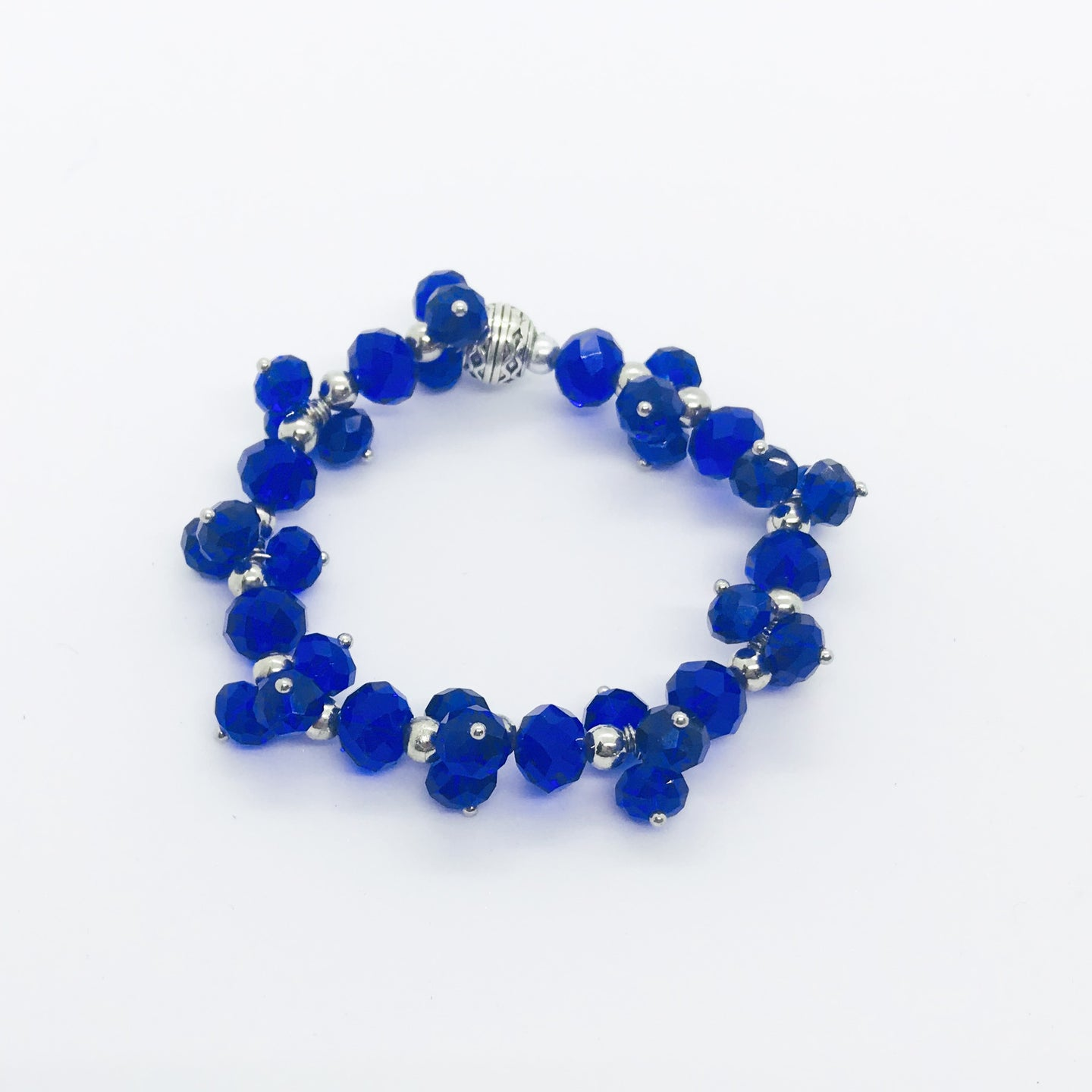 Glass Bead Stretchy Bracelet - B642