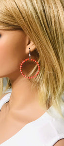 Glass Bead Hoop Earrings - E19-648