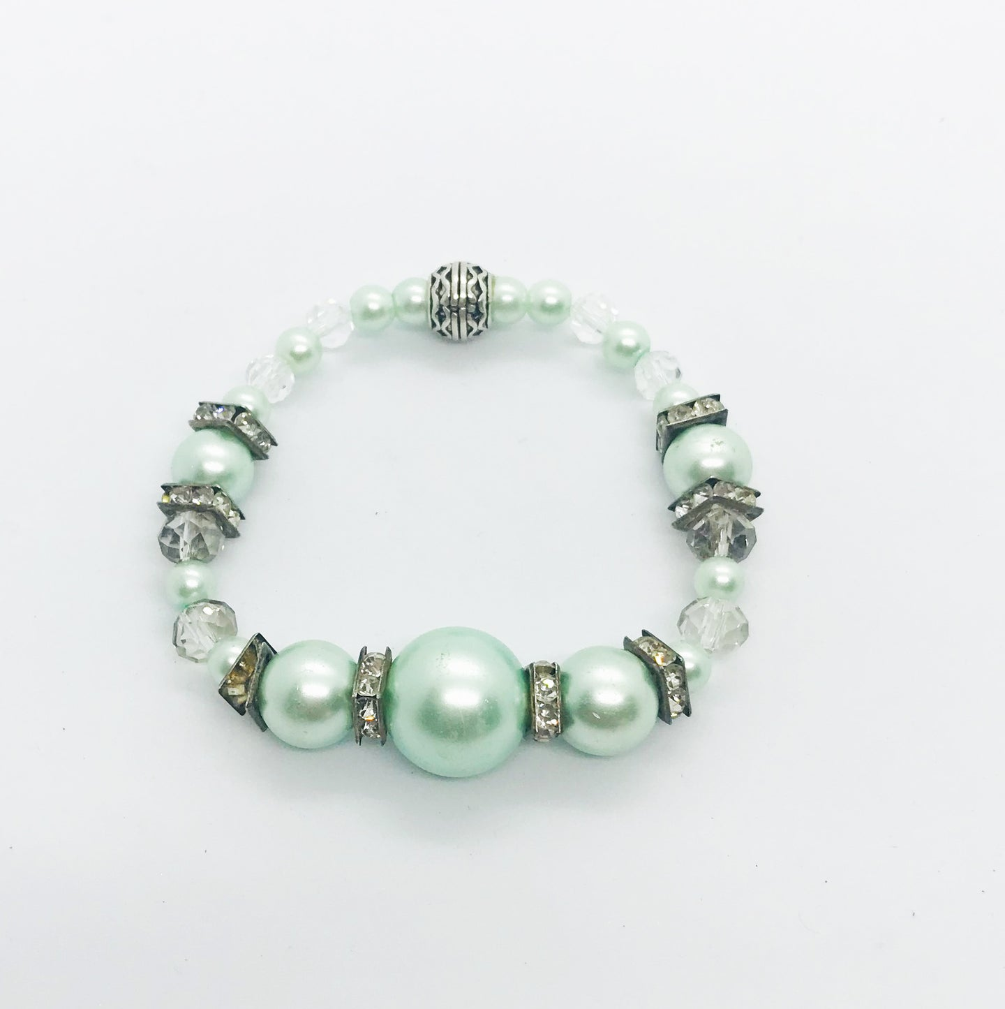 Glass Bead Stretchy Bracelet - B650