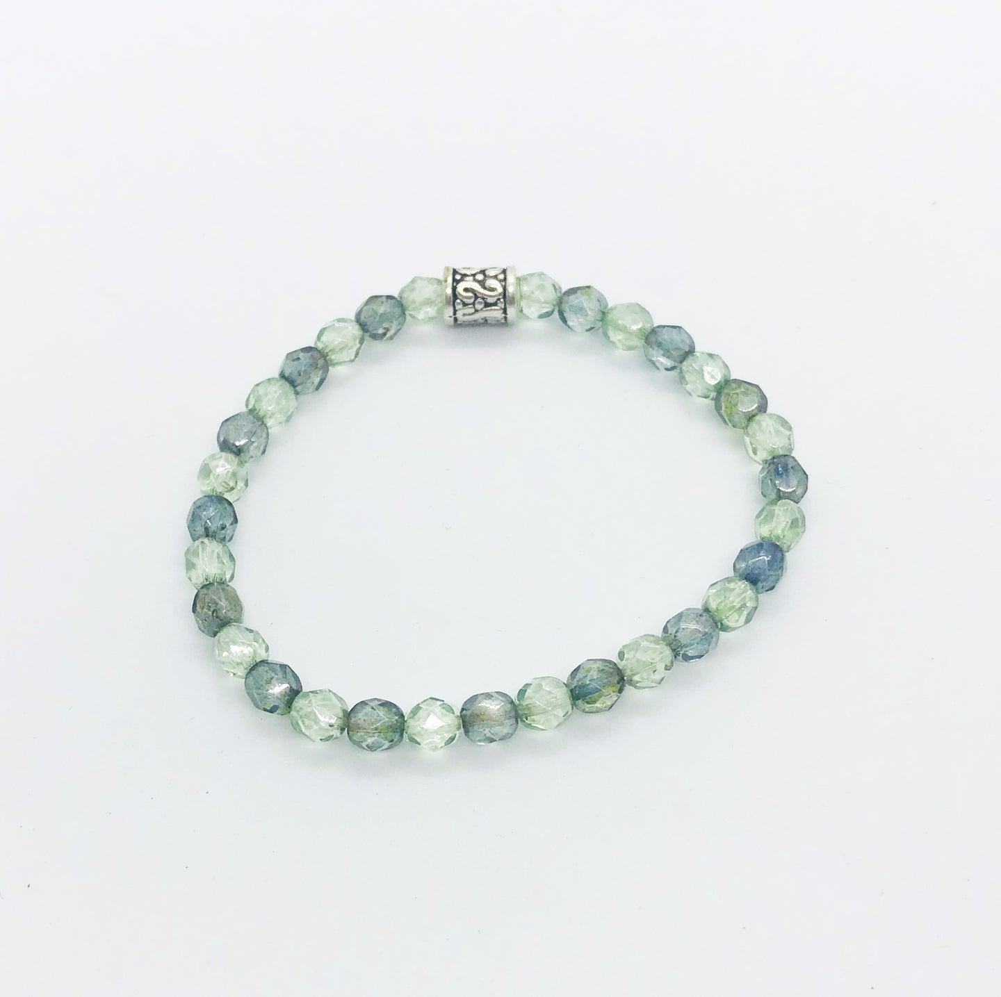 Glass Bead Stretchy Bracelet - B657