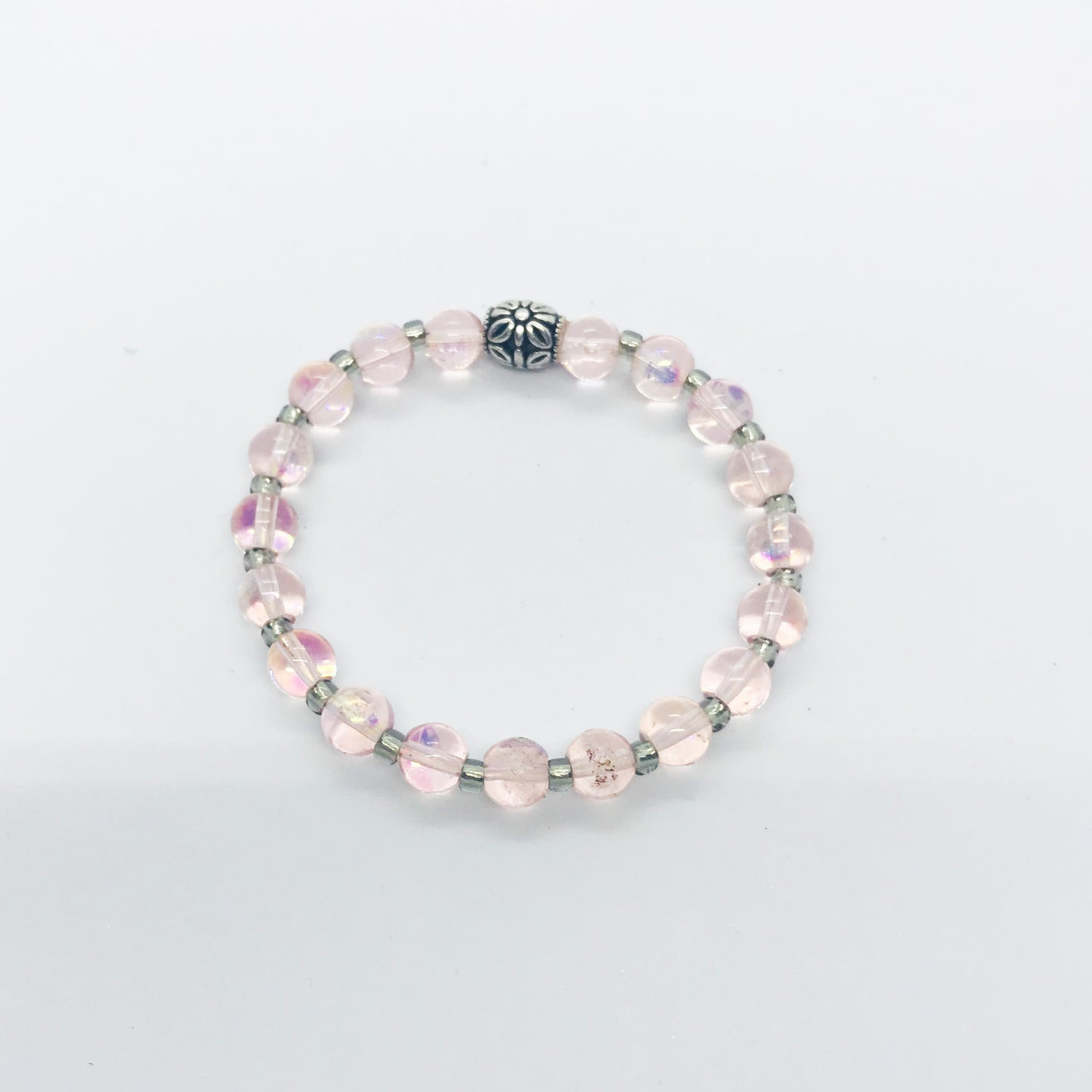Glass Bead Stretchy Bracelet - B665