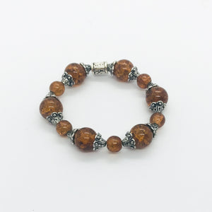 Glass Bead Stretchy Bracelet - B672
