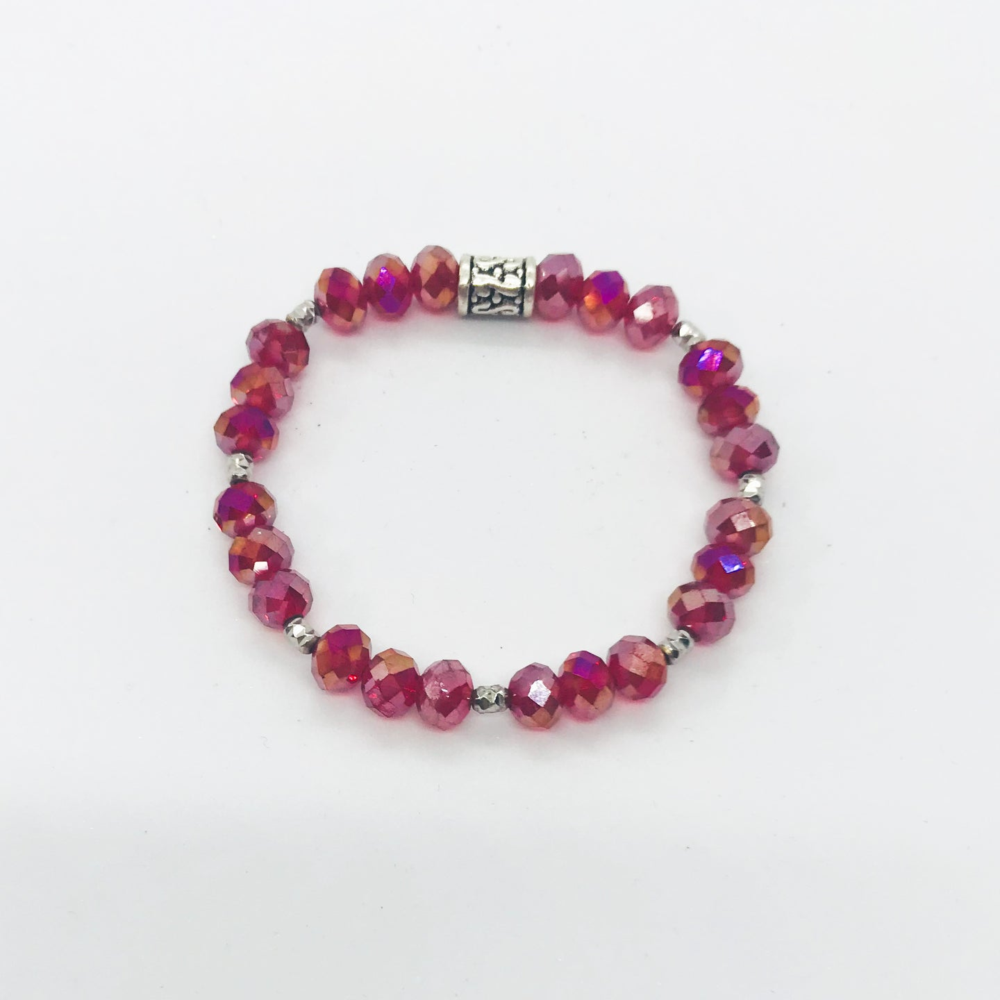 Glass Bead Stretchy Bracelet - B678
