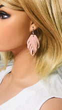 Load image into Gallery viewer, Pink Suede Leather Earrings - E19-685