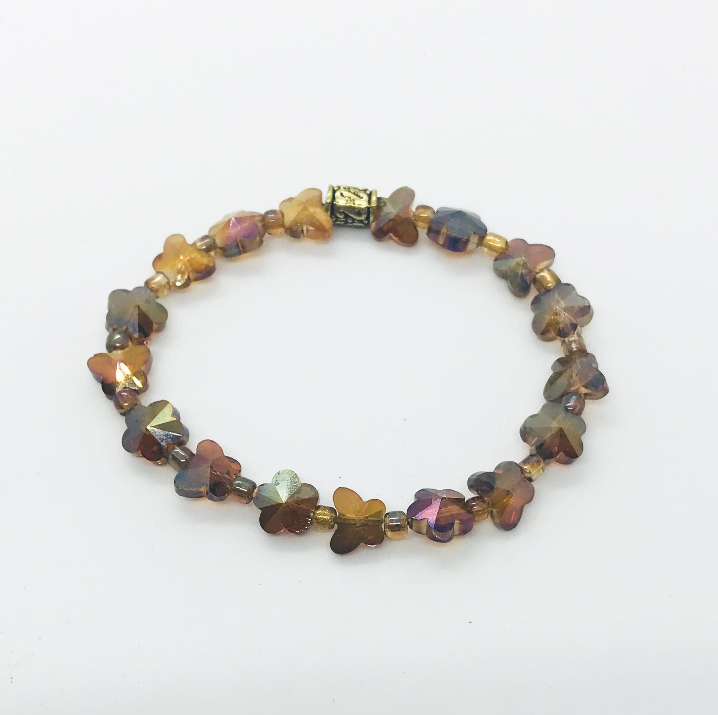 Glass Bead Stretchy Bracelet - B685