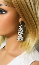 Load image into Gallery viewer, Black Cheetah Genuine Cork Leather Earrings - E19-686