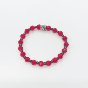 Glass Bead Stretchy Bracelet - B693