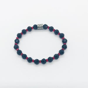 Glass Bead Stretchy Bracelet - B700