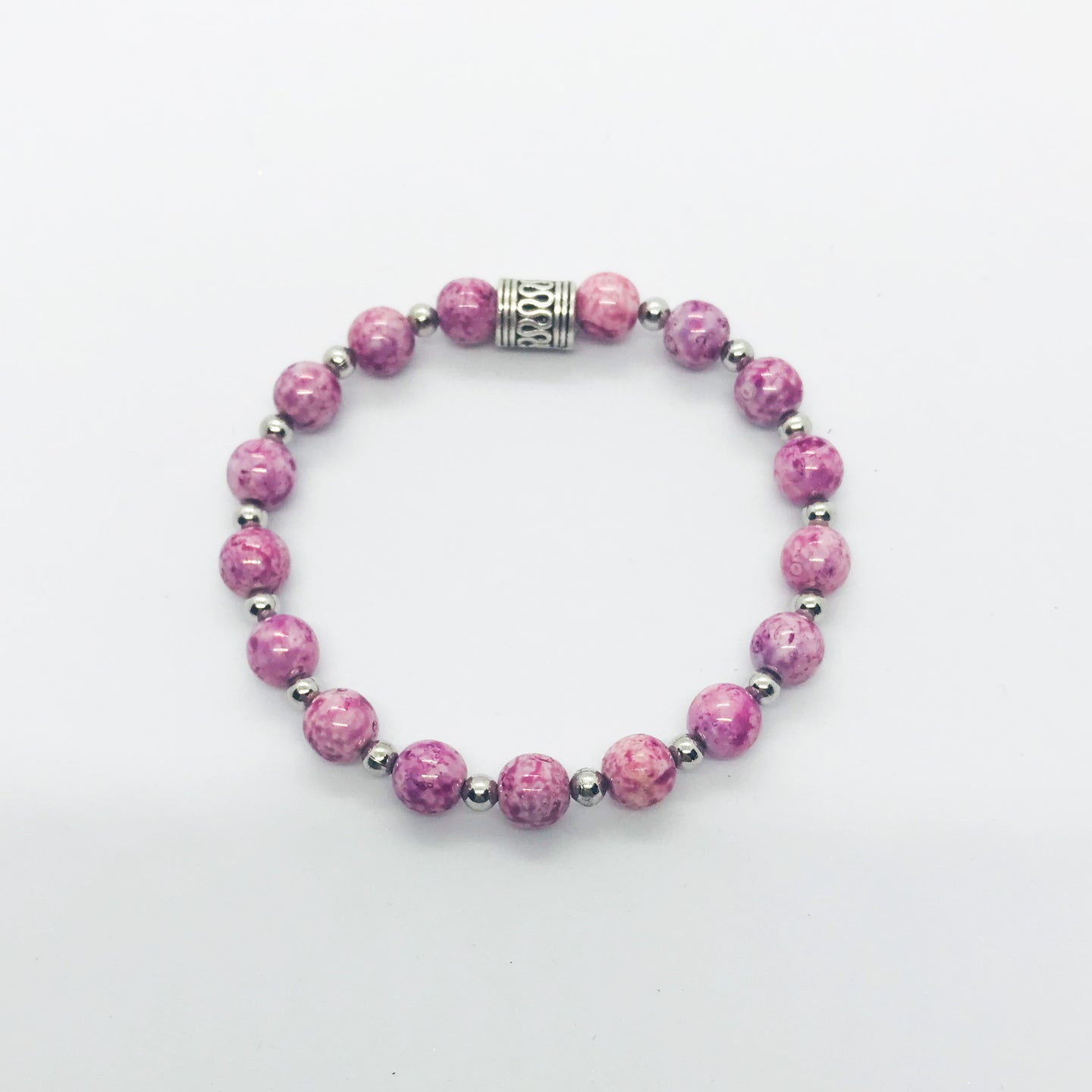Glass Bead Stretchy Bracelet - B701
