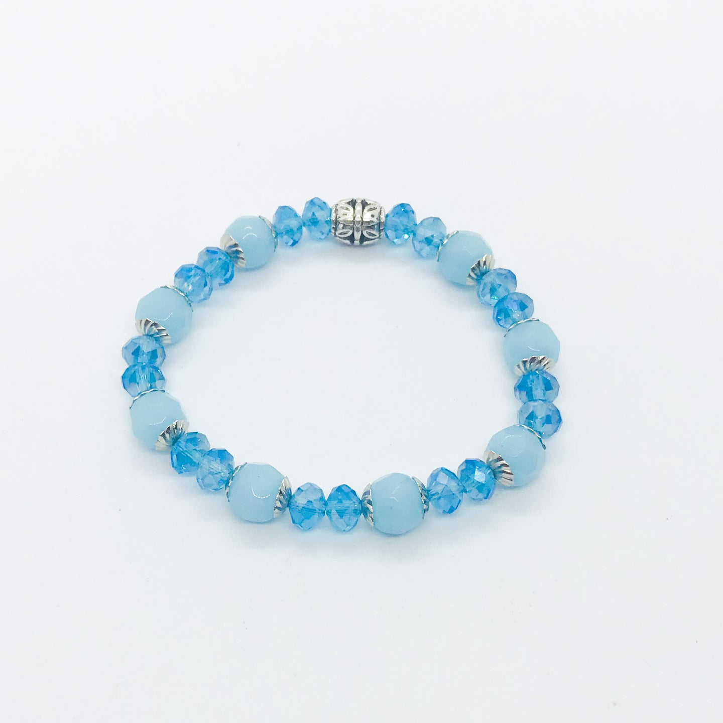 Glass Bead Stretchy Bracelet - B703
